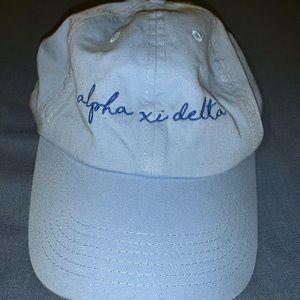 Accessories - Alpha Xi Delta denim baseball hat
